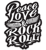 ---Peace, Love, RocknRoll Sticker---