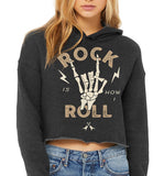 Rock is How I Roll Crop Hoodie