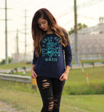 L2R Neon Sweater (Navy)