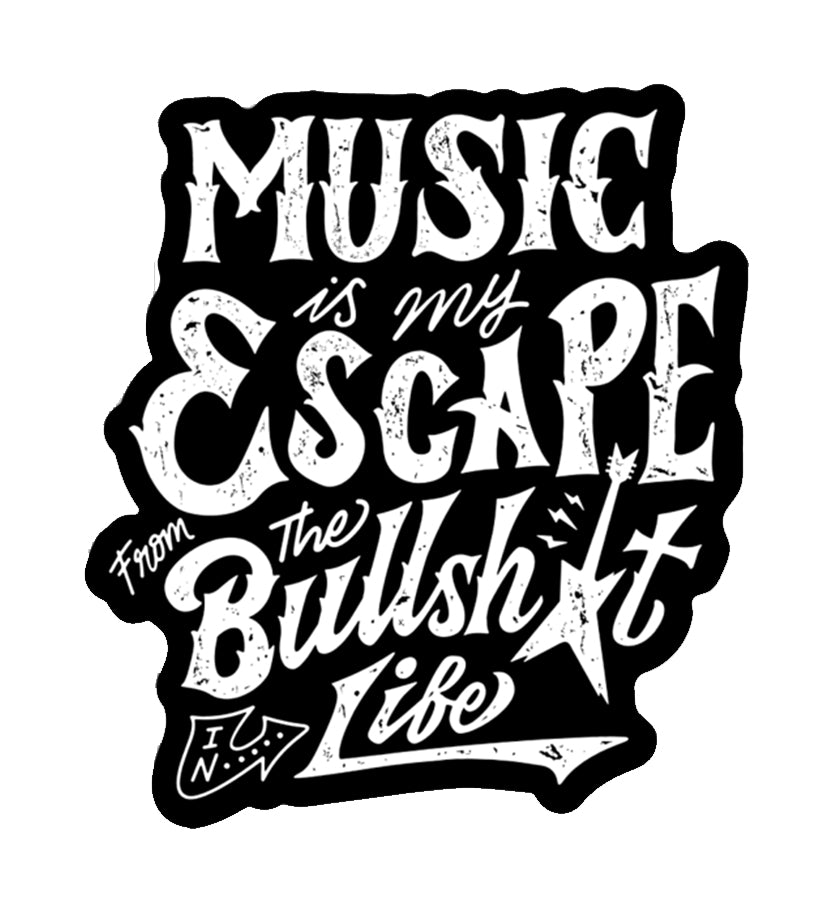 ZZ-Music is My Escape Sticker