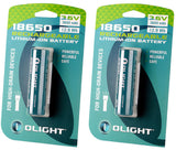 Olight 3600mAh Protected 18650 Rechargeable Li-ion Battery (2B)