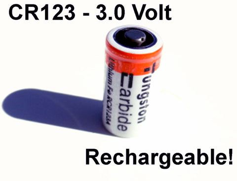 3 0 Volt Rechargeable Cr123 Lithium Battery