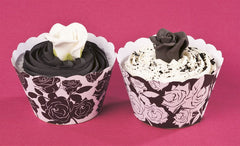 MONOCHROME ROSE CUPCAKE WRAPPER - Cake Decorating Supplies | Cake Supplies at Devine Deals