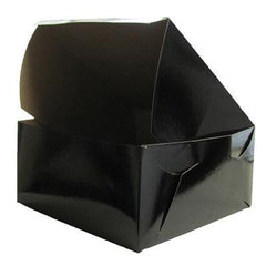 "CAKE BOXES | BLACK GLOSSY 8"" CAKE BOX - Cake Decorating Supplies 
