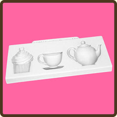 KATY SUE AFTERNOON TEA  SILICONE MOULD - Cake Decorating Supplies | Cake Supplies at Devine Deals