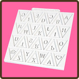 KATY SUE BUNTING ALPHABET SILICONE MOULD - Cake Decorating Supplies | Cake Supplies at Devine Deals