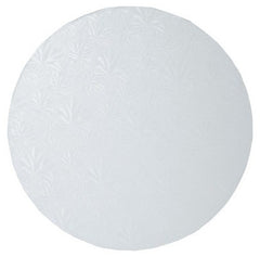 "ROUND WHITE CAKE DRUM 12"" - Cake Decorating Supplies 