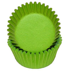 MINI LIME GREEN BAKING CUPS - Cake Decorating Supplies | Cake Supplies at Devine Deals