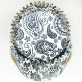 BLACK PAISLEY BAKING CUPS - Cake Decorating Supplies | Cake Supplies at Devine Deals