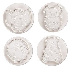 FUNNY ANIMALS PLUNGER CUTTER SET OF 4 - Cake Decorating Supplies | Cake Supplies at Devine Deals