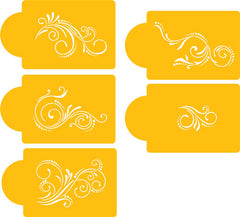 FIVE SCROLL SET CAKE STENCIL - Cake Decorating Supplies | Cake Supplies at Devine Deals