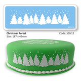 CHRISTMAS FOREST STENCIL - Cake Decorating Supplies | Cake Supplies at Devine Deals