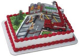FIRE TRUCK CAKE TOPPER - Cake Decorating Supplies | Cake Supplies at Devine Deals