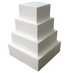 "STYROFOAM CAKE DUMMY 5"" X 4"" SQ - Cake Decorating Supplies 