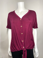 Load image into Gallery viewer, Ella Top - Burgundy