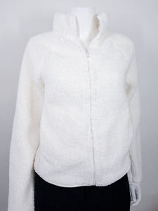 Ellie Sherpa Fleece Sweater - White