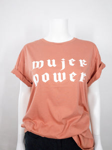 Mujer Power Oversized Tee - Terracota