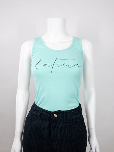 Latina Tank Top - Mint Green