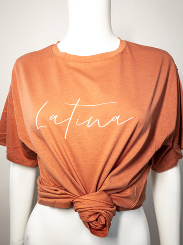 Latina Oversized Tee - Terracota
