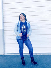 Load image into Gallery viewer, Virgencita Tee -  Navy Blue