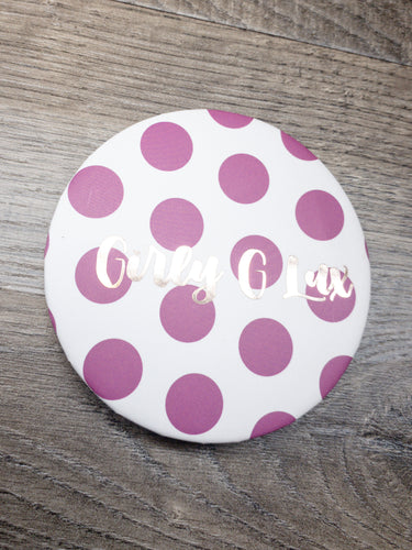 """Girly G Lux"" Polka Dot Compact Mirror"