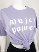 Load image into Gallery viewer, Mujer Power Oversized Tee - Lavender