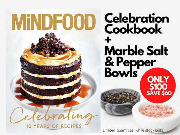 Celebration Cookbook + Marble Bowls Deal