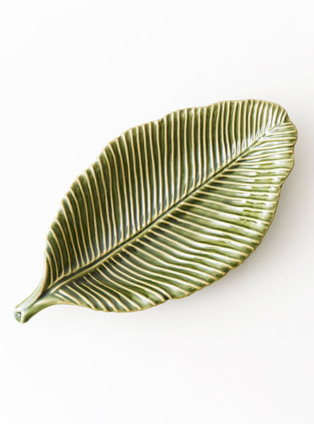 Green Range of Leaf Inspired Plates - Medium Plate