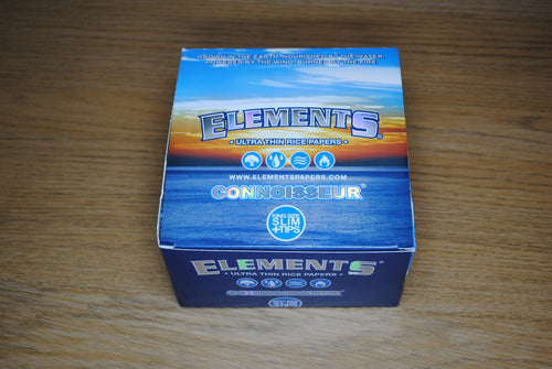 Elements Connoisseur King Size Slim Papers + Tips Full Box SmokeOutlet