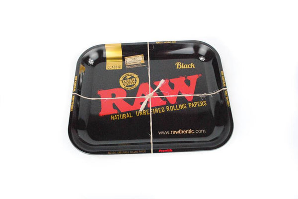 Raw Black Large Metal Rolling Tray