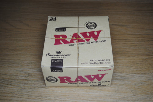 RAW Connoisseur King Size Slim Papers + Tips Full Box SmokeOutlet