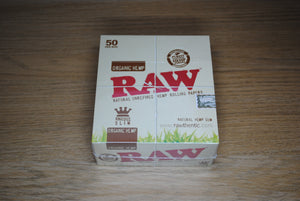 RAW Organic King Size Slim Papers Full Box SmokeOutlet