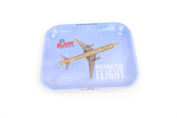 RAW Prepare For Flight Large Metal Rolling Tray Smoke Outlet