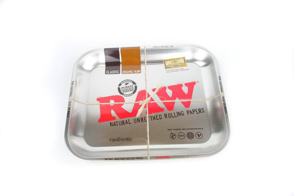 Raw Steel Effect Large Rolling Tray