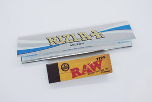 Rizla Micron + Raw Tips COMBO Rolling Papers SmokeOutlet
