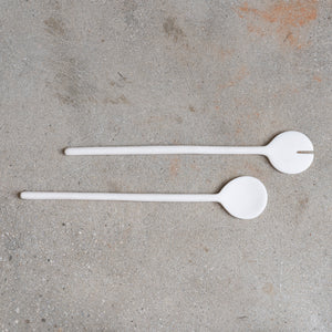 Salad Servers | White Resin | Set of 2