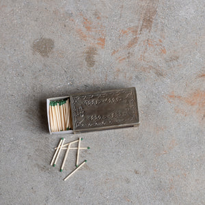 Silver Stamped Matchbox