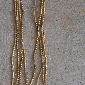 Long Brass Beads Necklace