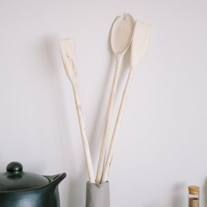 Whitened Spalted Maple Spatula