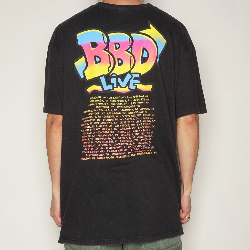 ADIDAS NEON BASKETBALL T-SHIRT-T-Shirts-Adidas-[90S VINTAGE]-[VINTAGE CLOTHING]-TRIED AND TRUE CO.