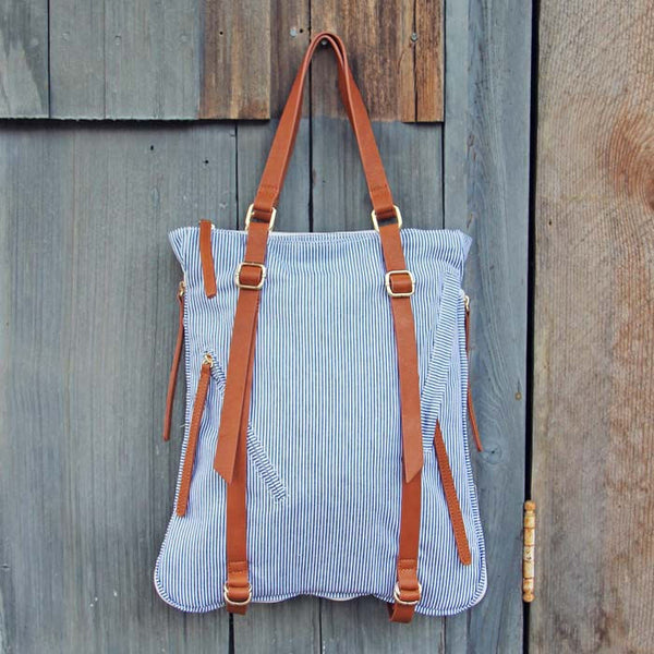 Seedling Pinstripe Tote: Featured Product Image