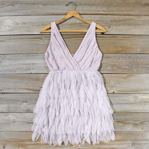 Drizzling Mist Dress in Dusty Lavender: Featured Product Image
