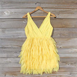 Drizzling Mist Dress in Lemon: Alternate View #1