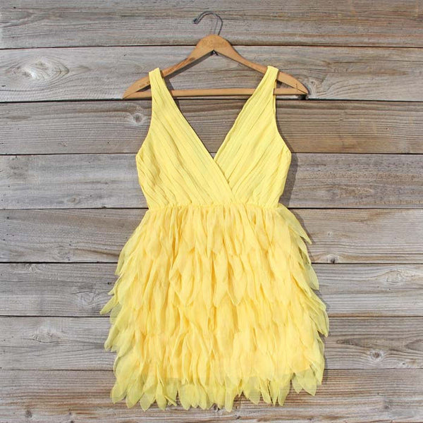 Drizzling Mist Dress in Lemon: Featured Product Image