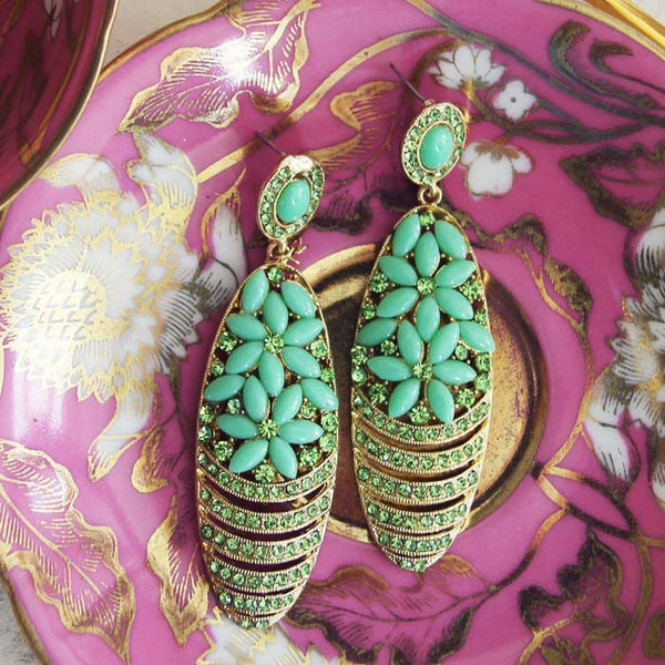 Moonwind Earrings in Mint: Featured Product Image