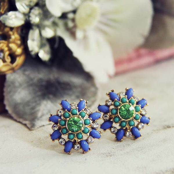 Sweet & Dreamy Earrings in Blue: Featured Product Image