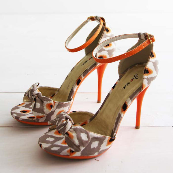 Twisted Vines Ikat Heels: Featured Product Image