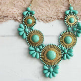 Bohemian Romance Necklace in Mint: Alternate View #2