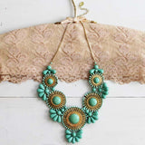 Bohemian Romance Necklace in Mint: Alternate View #1