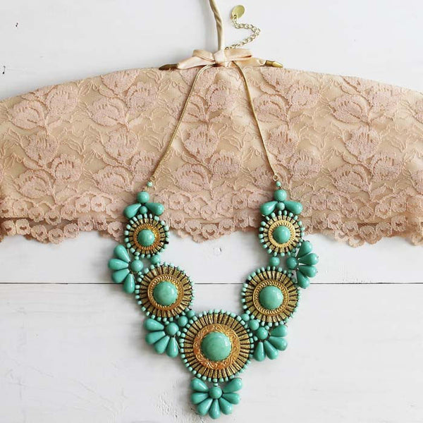 Bohemian Romance Necklace in Mint: Featured Product Image